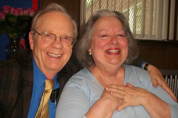 My mother, Sally Thomas, with my father, smiling her joyful smile.