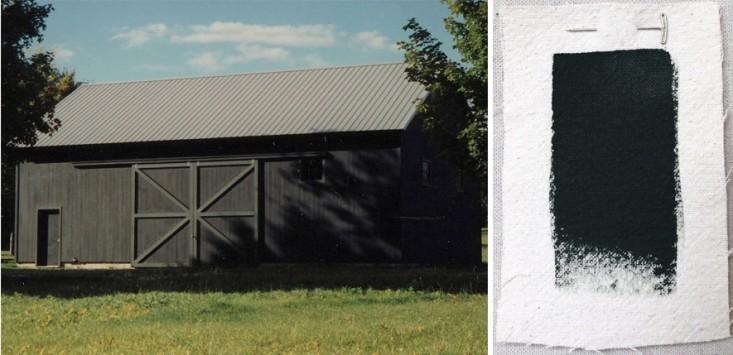 Best Exterior Outdoor Green House Paint Color, Benjamin Moore Black Forest Green, Gardenista