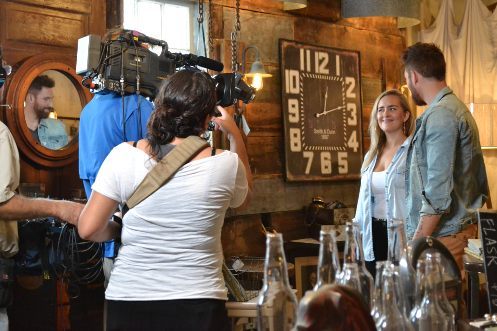 HGTV shooting a brief reality show segment at Chartreuse & co.