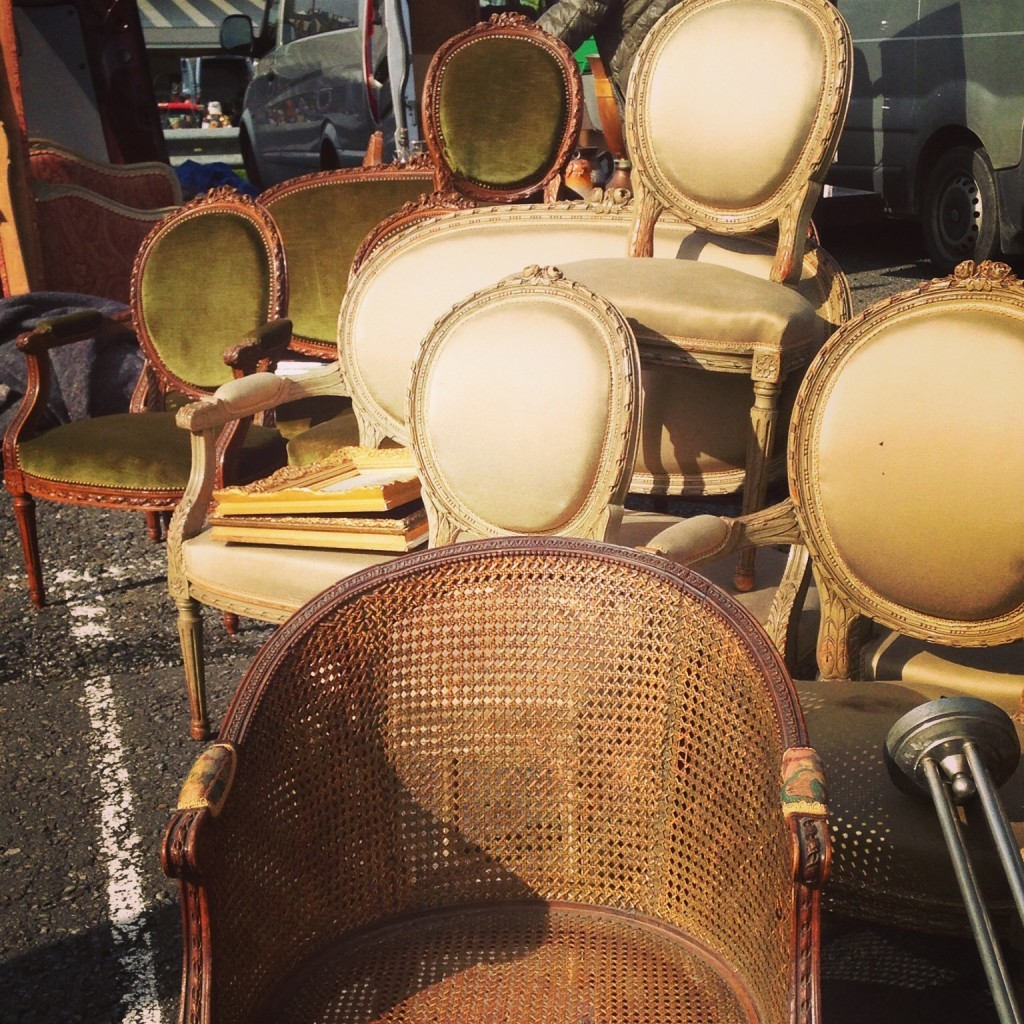 I was dazzled by the sheer volume of perfect sets of french chairs - everywhere.