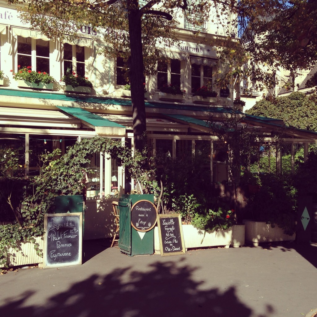 Charming cafe along the river in the 4th Arrondissement.