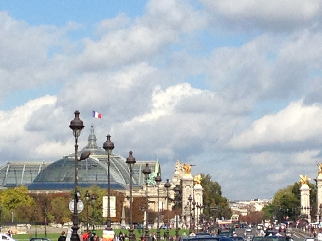 The bustle and beauty of the city, looking across the Seine from Invalides.