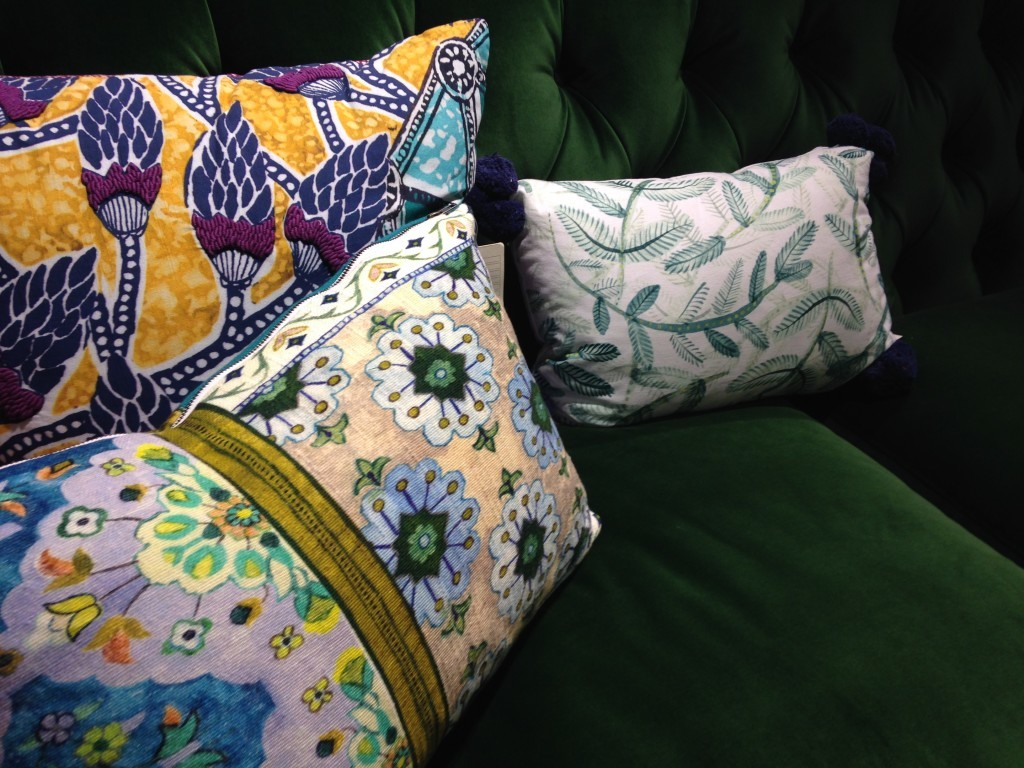 And the pretty pillows on it (all very pricey by my standards, though).