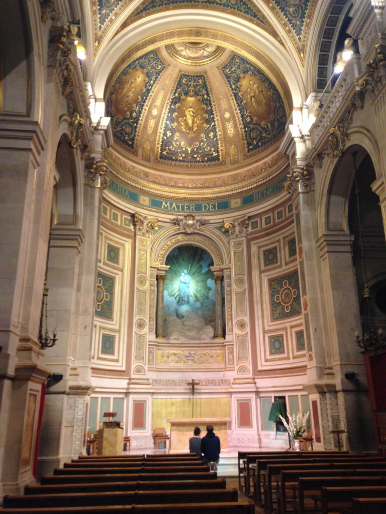 The alter, as seen from the main aisle of the nave