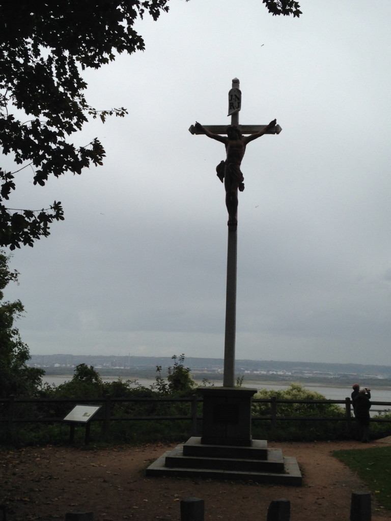 Along the old shipping lanes of northern France, these huge crucifixes dot the clip-top shoreline - watching over seamen as they depart, and greeting them home as they return.