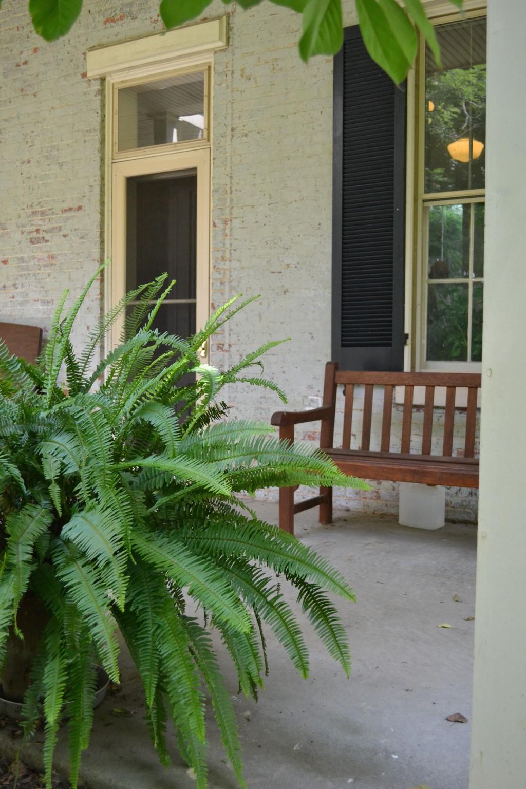 The deep back porch.