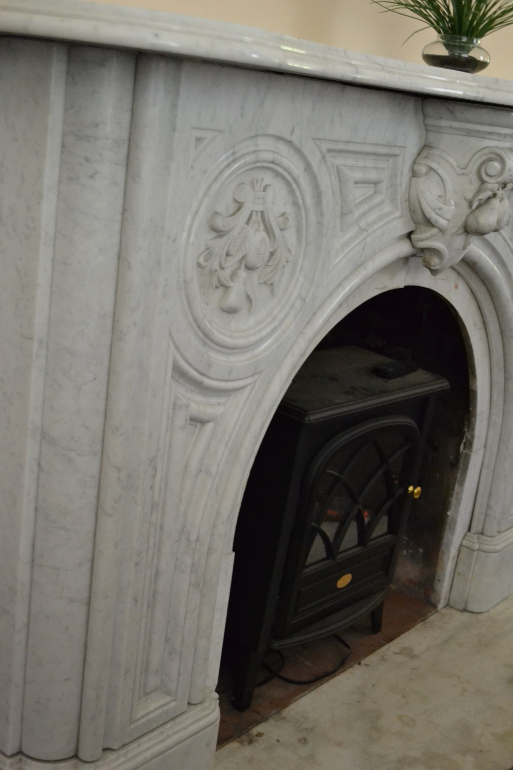 One of the 7 marble mantels in the house. Four, including this one, were purchased and shipped from Italy.