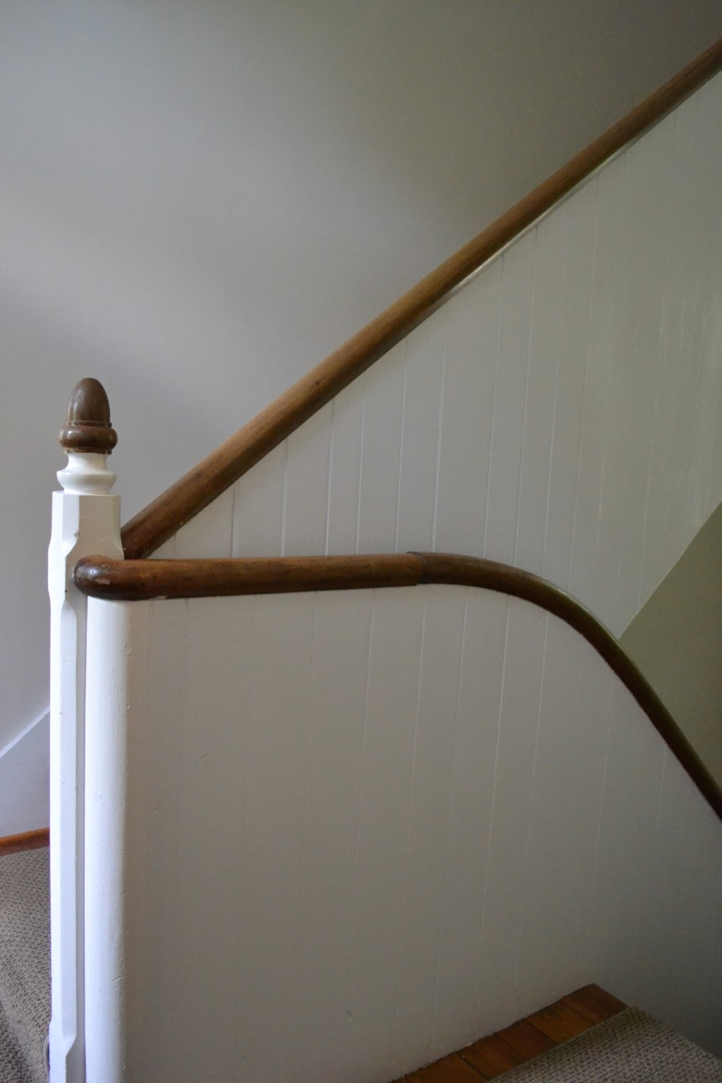 Exceptional detailing even in the back, servants' stairway.
