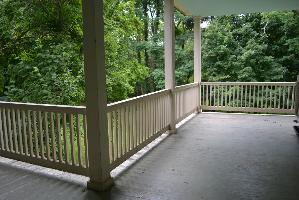 The upper porches. Every bedroom has a door opening onto this gracious space.