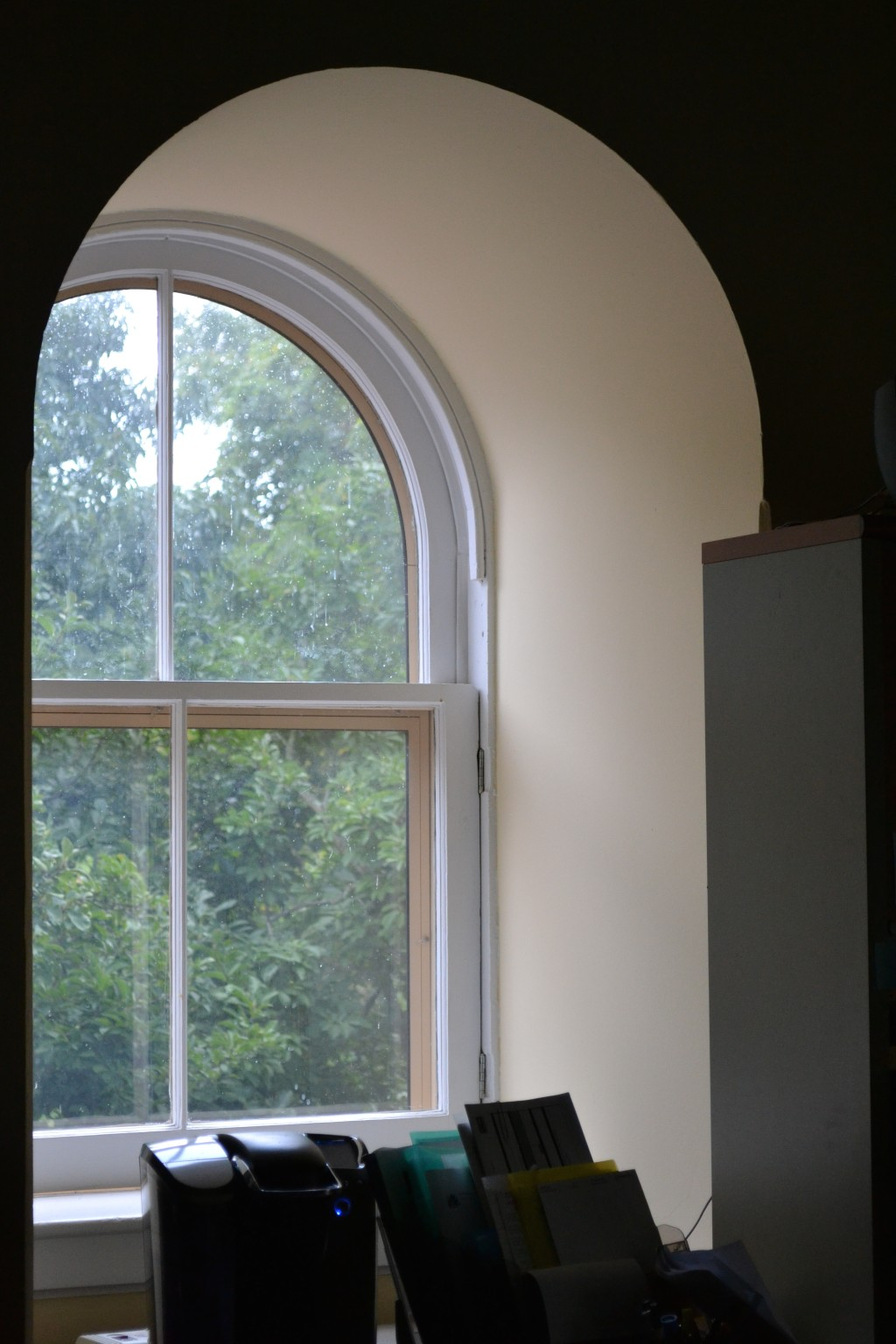The third-floor's arched dormer windows. The depth of the sills is delightful.