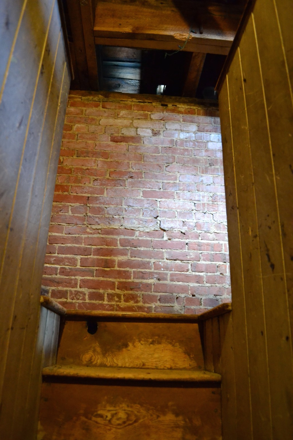 The steep, narrow stairway to the cupola.
