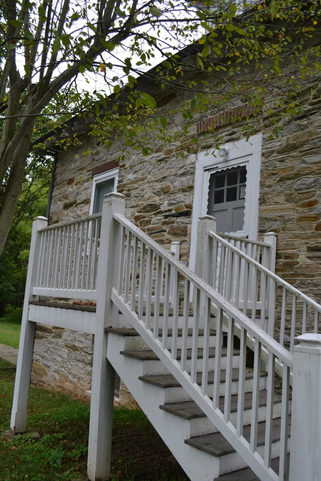 The front porch of the mill house, where my mother was born, and lived the first few years of her life.