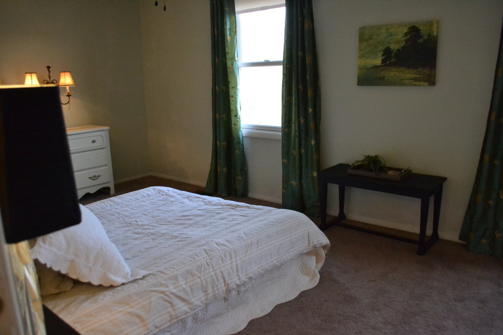 The master bedroom as seen from the entrance.