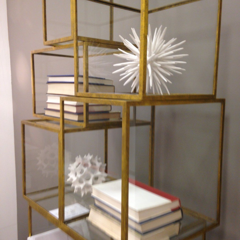 hot trends Oly brass cube shelves