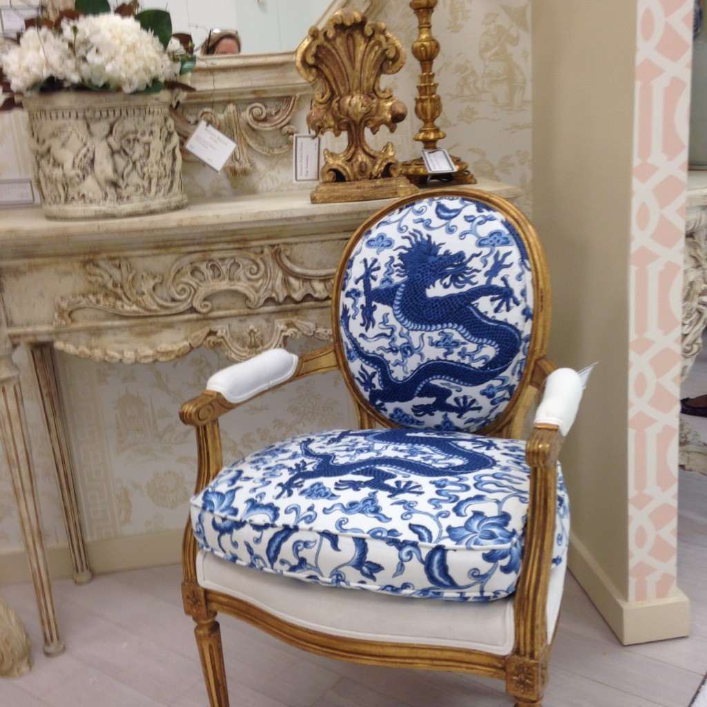 hot trends french indigo chair
