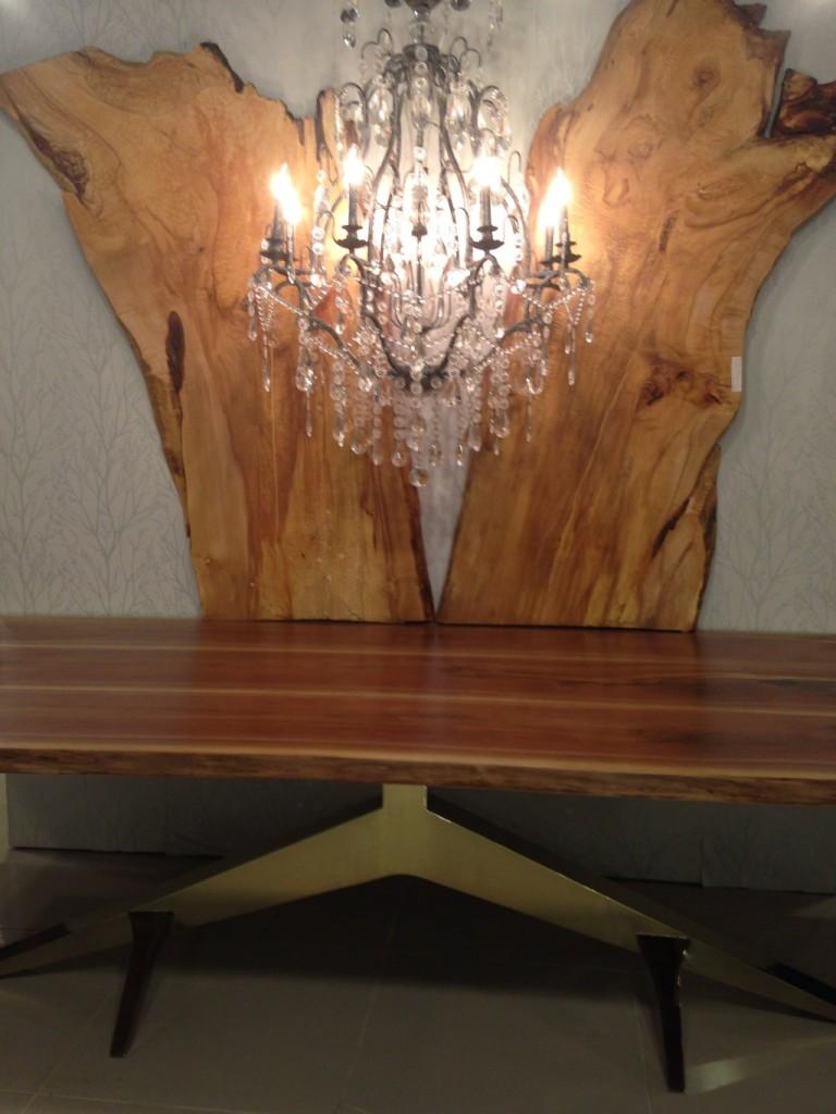 live-edge wood table