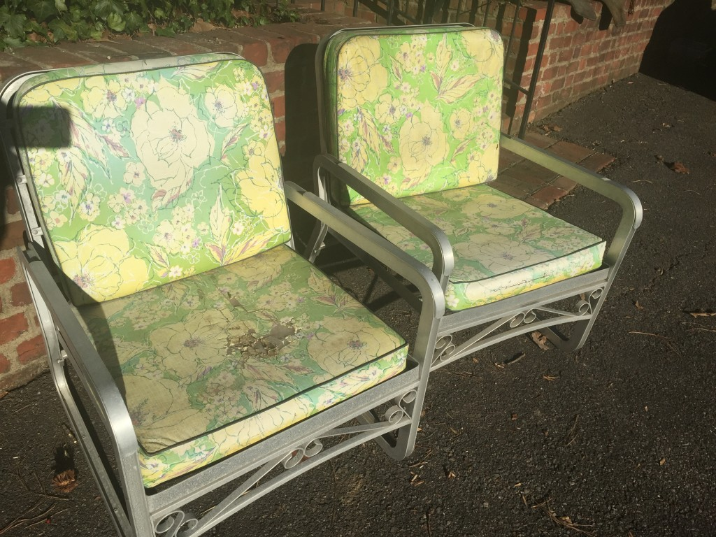 BEFORE garden chairs
