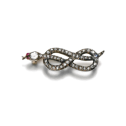 Duchess of Devonshire snake broach