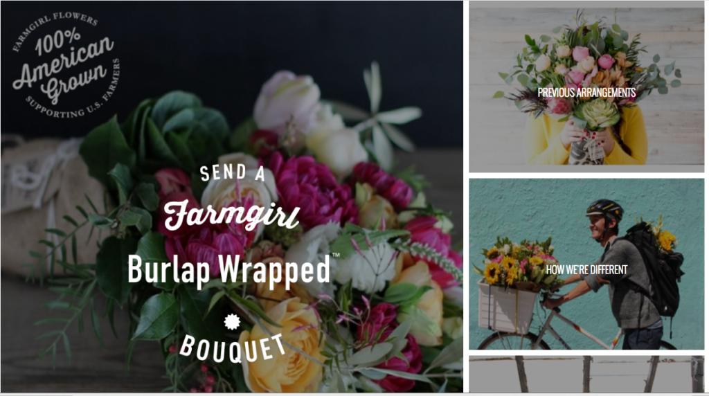 Farmgirl Flowers website
