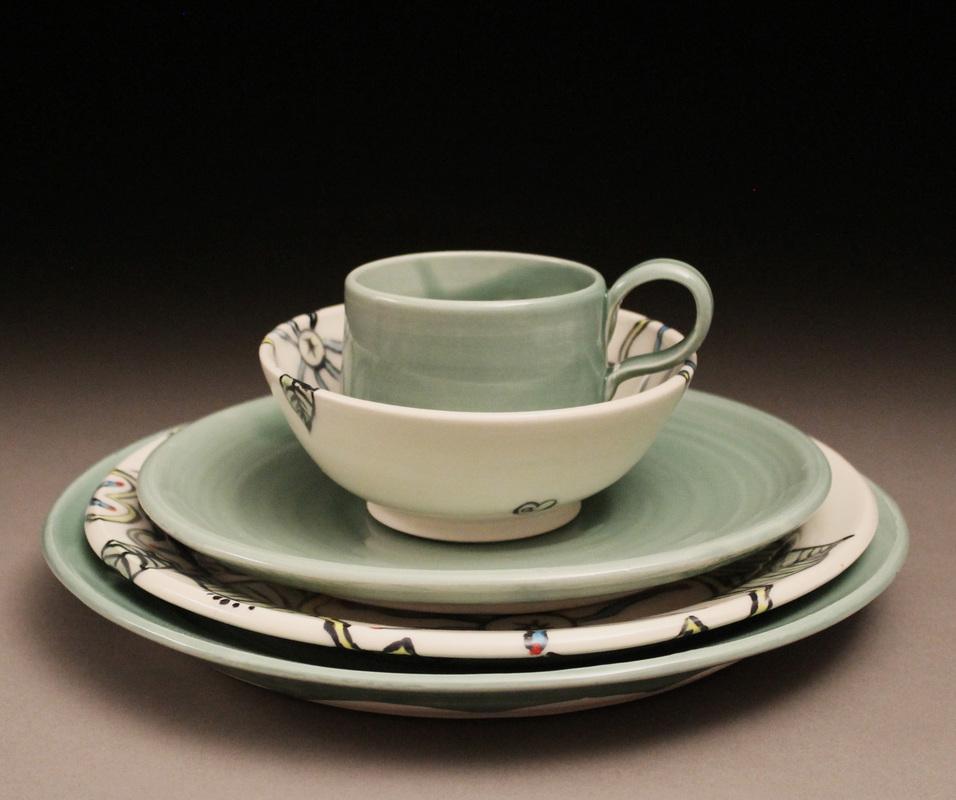 jennalynnstudios pottery tablesetting