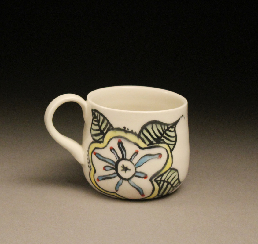 jenna lynn studios floral mug