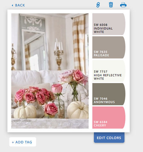 Sherwin-Williams Snap It paint color selection tool