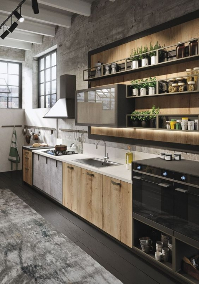 "Sorry, I just had to show you this one. While it's an awesome kitchen, do you think it really belongs in an article about ""Tiny kitchens?!"" Elements can be included, but seriously - tiny? I think not."