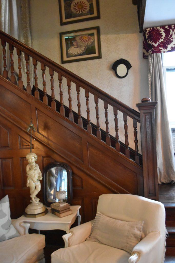 Victoria waterlilies, victorian stairway,