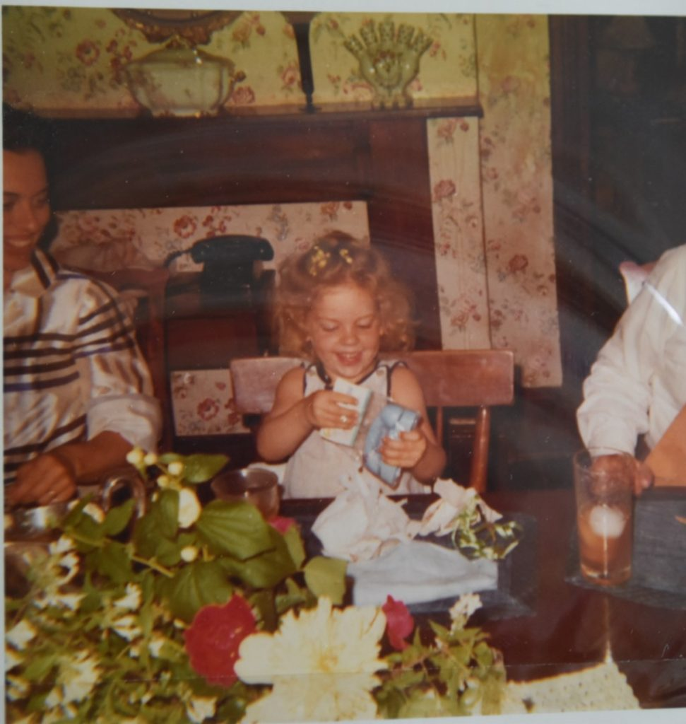 My 4th birthday party at grandmother's