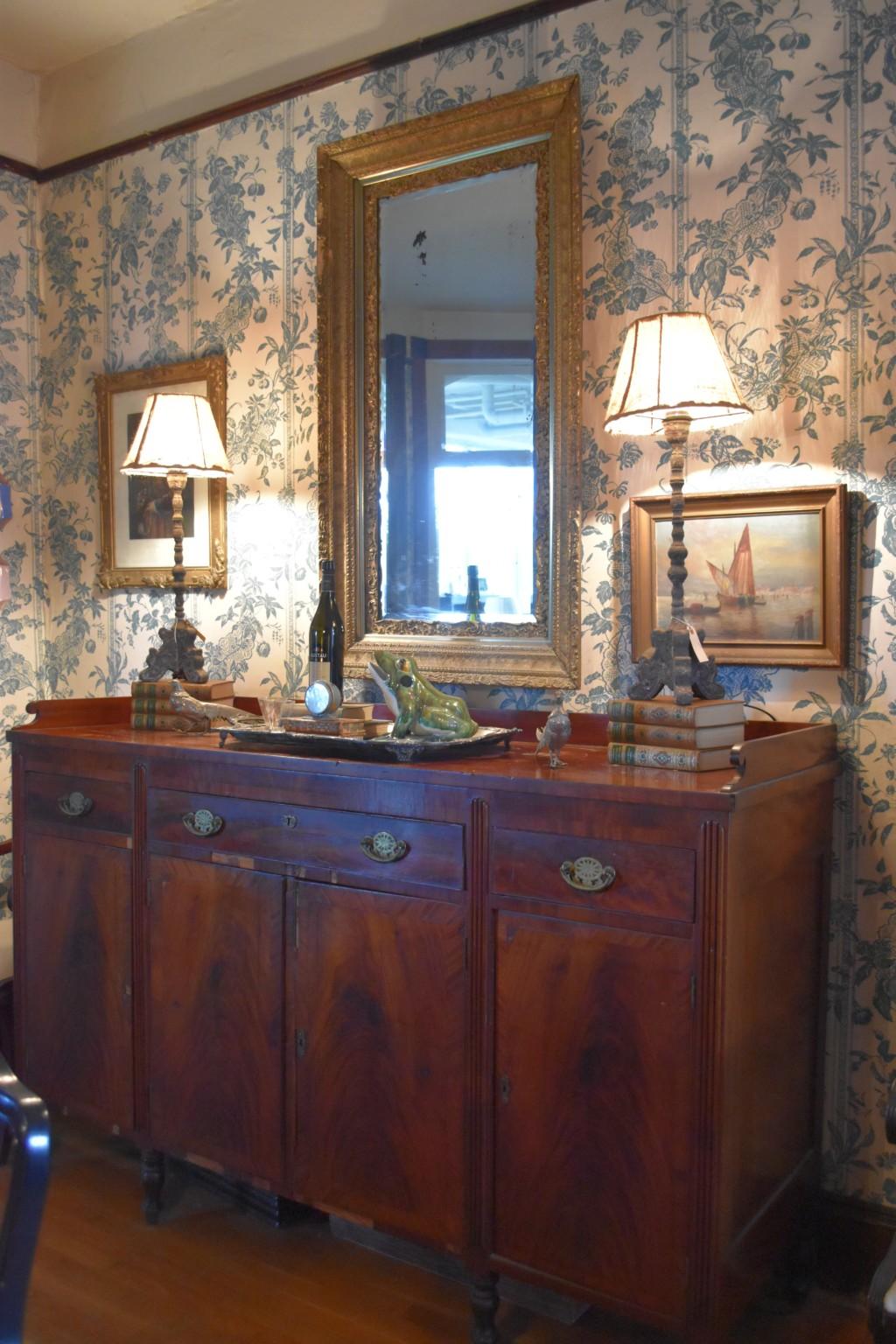 sheraton sideboard, dining room