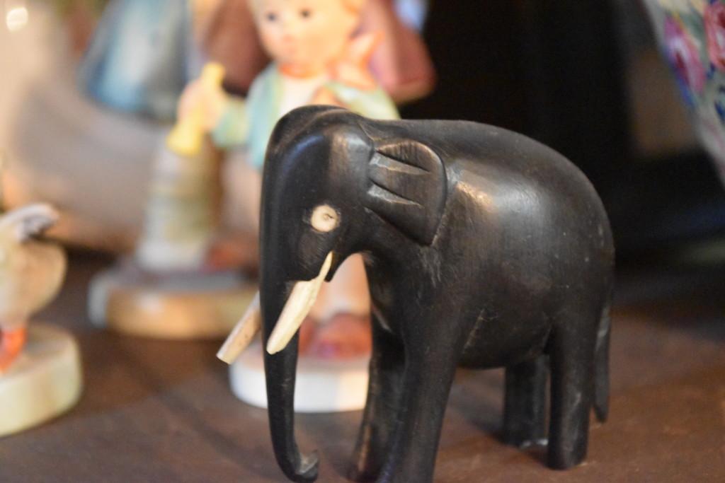 ivory, ebony elephant
