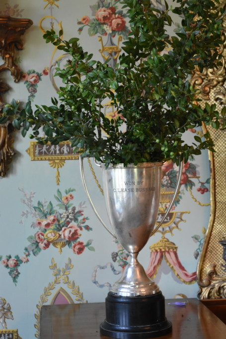 If you have something, use it. And these trophies have always made such spectacular vases - filled with greenery or flowers.