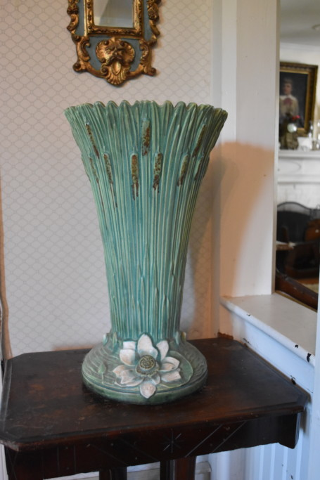 This exceptional piece of Roseville pottery is large enough to hold umbrellas.