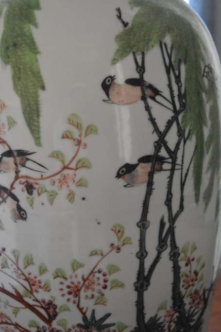 Detail of the image painted on the second Chinese urn
