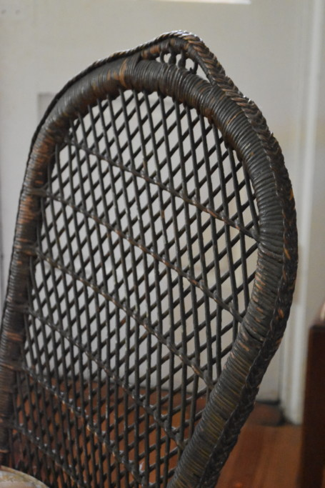 Here's a look at some of the beautiful hand-done detailing on this chair.