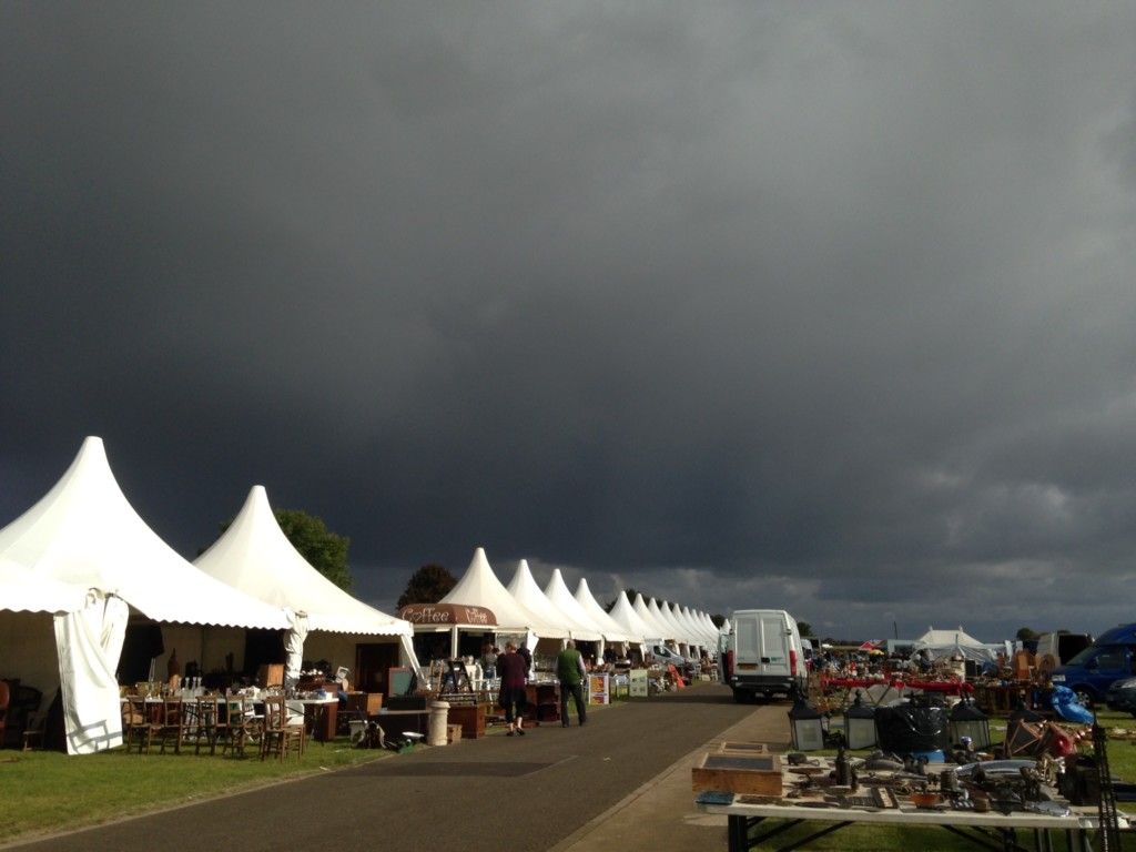 The spectacularly changeable weather at the Lincolnshire Antiques Fair