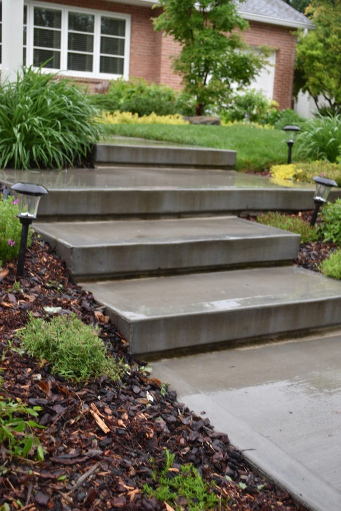 These Newly Constructed Front Steps Add A Sleek, Modern Structure To The  Front Garden, Where Succulents, Native Plants, And Other Perennials Are  Growing ...